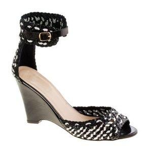 J. Crew Mona Dreamweaver Woven Wedge Ankle Sandal